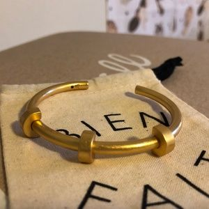 Madewell Cuff Bracelet In Vintage Gold